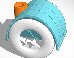 Replacement wheel for shop vac 3D printable model