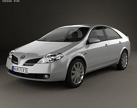3D Nissan Primera hatchback 2002 nissan