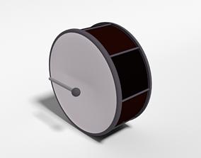3D model Low Poly Cartoon Big Drum