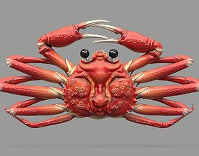 Game Ready Japanese Signs Set Crab Signboard 3D model