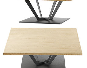 Dining table by Christophe Delcourt 3D