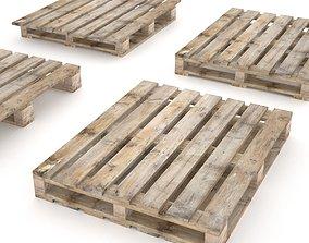 European wood pallet - 01 3D asset VR / AR ready