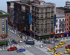 shop 3D model NYC Street Crime Scene