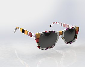 3D model Rayban Wayfarer sunglasses
