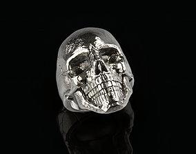 goth Skull ring 02 3D print model