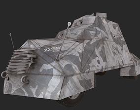 Kubus Armoured vehicle Warsaw 1944 3D asset
