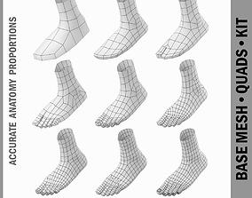 3D asset Foot Base Mesh Kit