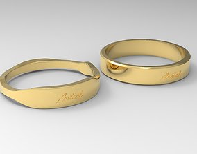 marriage Artist Couple Ring Gold 3D print model