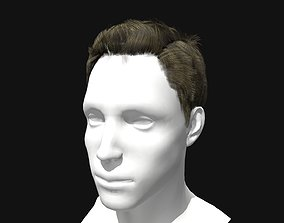 game-ready 3D Hair Male Pompadour Hairstyle