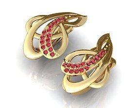 Earrings 12 earrings-rubies 3D print model