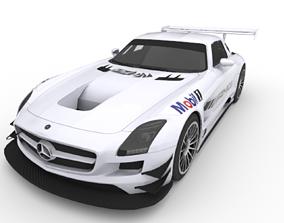 3D asset Mercedes-Benz AMG SLS