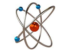 Cartoon Atom v2 005 3D model