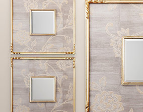 Evelyn Square Mirror Uttermost 3D