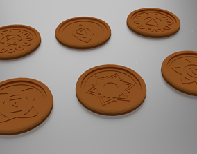3D printable model 7 Chakra Coasters