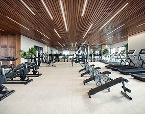 3D animated Gym room
