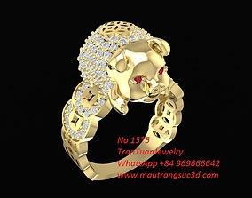 3D printable model 1575 Lucky Diamond Pig Ring