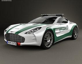 Aston Martin One-77 Police Dubai 2013 3D model