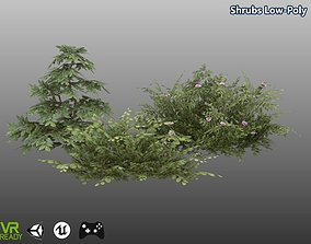 Shrubs Low Poly 3D asset