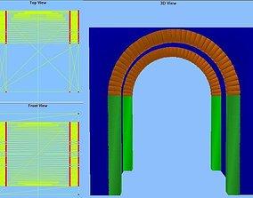 Barrel vault 10x10x10 feet 3D model