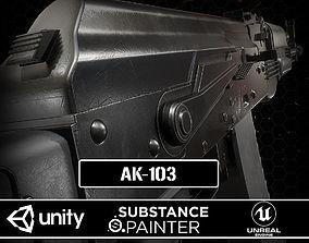 3D asset game-ready AK-103