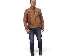 3D Simple Man with Leather Jacket CMan0341-HD2-O02P01-S