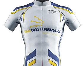 Cyclist bib t shirt cloth 3D