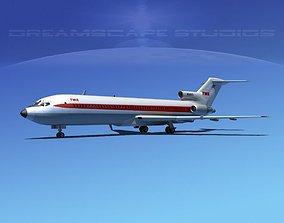 Boeing 727-200 Trans World 1 3D model