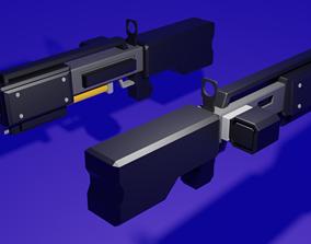 3D model Flak Thrower Shotgun