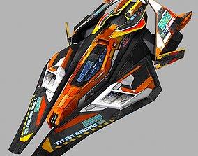 SciFi Racing-Ship 02 3D model