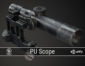3D model PBR PU Scope