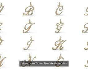 Initial Letters Pendant Alphabets 3D