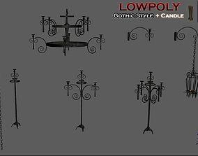 Lowpoly CandleHolder 3D model