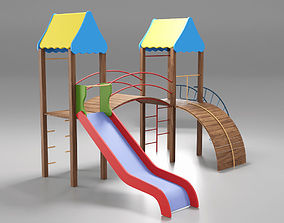 Cheerful Childrens Playground 3D model