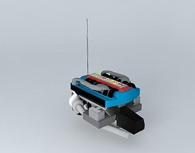 Car engine NEG V12 3D model