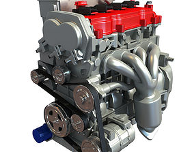 Generic Car Engine 3D model