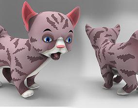 3D model game-ready Cute Cartoon Cat Animated