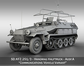 3D model SD KFZ 251 3 IV Ausf A - Hanomag Radio and 1