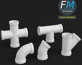 3D model PVC pipe joints