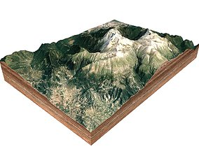 Mountain landscape river 3D