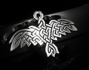 Celtic bird Pendant P0018 3D printable model