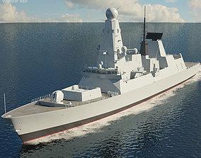 3D HMS Daring D32