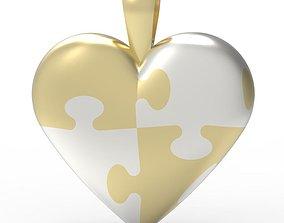 Puzzle Heart pendant puzzle 3D printable model
