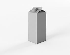 Tetra Pack Juice Blank Package 3D