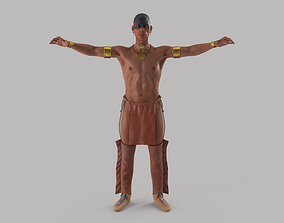 Native American 3D asset rigged