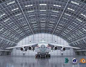 3D Hangar Exterior-Interior 1