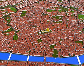 Florence City of Italy 3d model low-poly