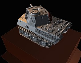 tanks PzKpfw V Panther diorama 3D print model