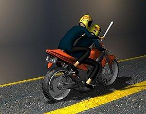 motorcycle 3D asset