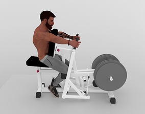 Lat workout 3D asset