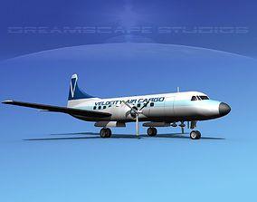 3D model Convair CV-340 Velocity Air Cargo